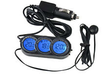T107 Multifuctional LCD Digital Thermometer for Car with Clock / Date Display