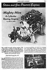 30CC Elmer Wall 4 cylinder OHV Mighty Mite gas engine you build instructions!