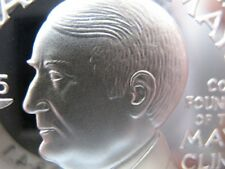 7/8-OZ CHARLES H. MAYO  FREEMASON BROTHERHOODMASONIC COIN SILVER .925 + GOLD