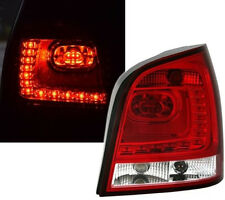 CLEAR & RED LED REAR TAIL LIGHTS FOR VW POLO 9N & 9N3 2001-2009 TYP 2 NICE GIFT