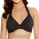 Freya Rock The Beach Banded Halter Bikini Top Black/Gold 3686 Select Size