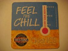 Beer Brewery Bar Coaster ~ WESTONS Premium Cider Ice ~ Check Out the Chillometer