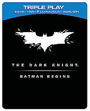The Dark Knight/Batman Begins (Blu-ray) Ultra Violet Digital CODE ONLY(2 Films)