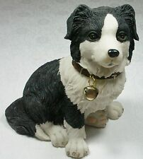 Puppy Figurine w Bell Border Collie 9319844338684 DOGPUP8 NEW ***LAST ONE***