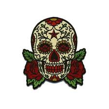 Sugar Skull Patch Embroidered Iron Jacket Applique Day of the Dead