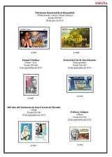 ESPAÑA HOJAS DE ALBUM DE SELLOS PARA IMPRIMIR EN A4 PERIODO 1850-2016 COMPLETO