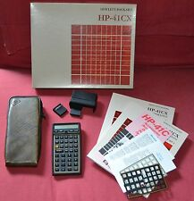 Calcolatrice Hewlett Packard Hp 41 CX, Completa, Boxed, Modulo MATH, Card reader