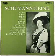 Schumann-Heink (Arias); LP (RCA 1969) Immortal Performances- New/Sealed