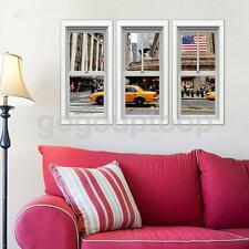 3D UK Street View Wall Stickers Wallpaper Decal Home Kids Room Ornament New