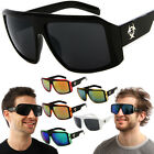 Biohazard Goggle Style Mens Designer Sunglasses Dark / Mirror Lens Color Shades