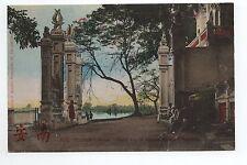 INDOCHINE TONKIN HANOI grand lac et pagode du grand bouddha carte couleur 1900