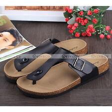Flip Flops Summer Cork Sandals Slippers Womens Mens Lovers Beach Flats Shoes