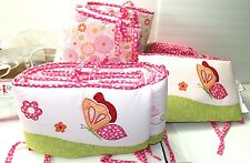 KIDSLINE KIDS LINE CRIB BUMPER  WITH FITTER & BED SKIRT