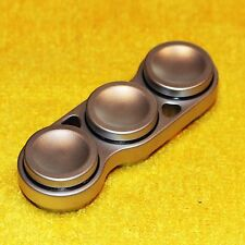 EDC Aluminum Dual-Bearing Spinner Fidget Toy Ceramic Bearing 3 Buttons Made USA
