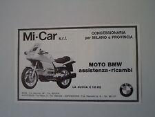 advertising Pubblicità 1983 MOTO BMW K100 K 100 RS