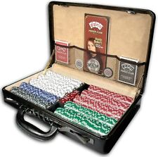ESPN Championship Edition Poker Chip Set Of 500 Pcs w/Genuine Leather Case