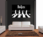 THE BEATLES ABBEY ROAD BLACK & WHITE Giant Wall Art Print Picture Poster