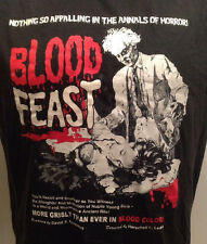 Blood Feast Tshirt Men's M Horror Scare Movie Cinema Splatter Gore Halloween