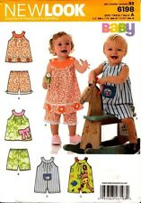New Look Pattern 6198 Babies Playsuit, Top and Pants