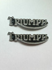 TRIUMPH PRE UNIT TANK BADGES, 5T, 6T, TR5, T100, T110,  1938-56, (PAIR)