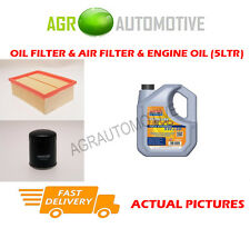 PETROL OIL AIR FILTER KIT + LL 5W30 OIL FOR PEUGEOT 307 SW 2.0 136 BHP 2002-05