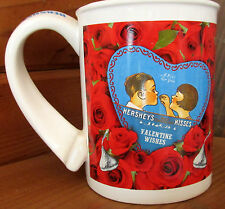 A Kiss For You Hershey's Kisses Valentine Wishes Red Roses Coffee Cup Mug