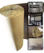 25 x 1.05m SELF ADHESIVE Thermal Bubble Foil Insulation caravan Camper van kit