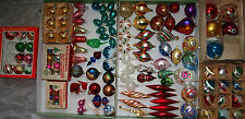 Lot of 127 Vintage Glass Christmas Tree Ornaments Mixed eras 60s through to 90s