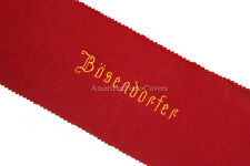 Bosendorfer Piano Key Cover - Red Felt Embroidered Keyboard Cover