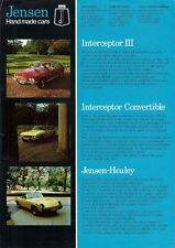 Jensen 1974-75 UK Market Leaflet Sales Brochure Interceptor Healey