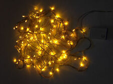 LED Christmas Lights GOLD Exterior 100ft roll 300 LED 110V Outdoor String YELLOW