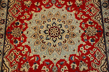 c1930s ANTIQUE HIGHLY DETAILED PERSIAN NAIN ISFAHAN RUG 2.11x4.6 SILK ACCENTS