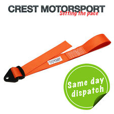 TRS Ajustable Remolque Ojo strap/loop Naranja (MSA cumple) race/rally/competition