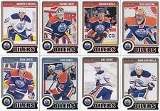 2014-15 O Pee Chee Edmonton Oilers Complete Base Team Set 16 Different Cards