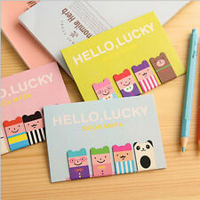 Cute 1 Set 4Pcs Bookmarks Note Pad Memo Stationery Book Mark Novelty Funny Gift