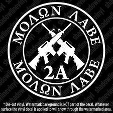 MOLON LABE Decal Sticker Come And Take 2A NRA AR15 Pro Gun Rights ACP Spec Ops
