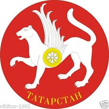 Car sticker Sticker the Coat of arms of Tatarstan on a red background Russian...