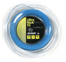 ASHAWAY ULTRANICK 18 SQUASH RACKET STRING - 110m REEL BLUE