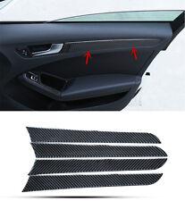 Car Carbon Fiber Interior Door Panel Decal Cover Trim 4pcs For Audi A4 B8 09-15