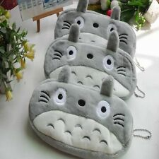 Gray Totoro Novelty Cute Pencil Case Purse Cosmetic Pouch Bag Stationery Bags