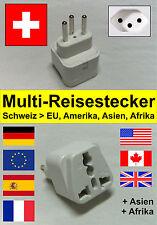 Multi - Reiseadapter / Reisestecker / Steckdose Adapter für die Schweiz