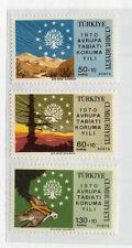 Turquia Conservación de la Naturaleza serie del año 1970 (CW-16)
