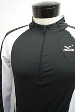 MIZUNO DryLite 1/2 zip black workout sweater jacket pullover sz M mens #8196