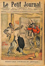 SUPPLICE Lennoxville CANADA  72 H ATTACHÉ A SA VICTIME ET LYNCHAGE Lynching 1902