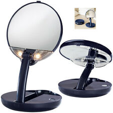 Floxite Lighted Compact Travel Vanity Makeup Purse Mirror 10X Magnification