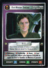 STAR TREK CCG TROUBLE WITH TRIBBLES RARE CARD FIRST MINISTER SHAKAAR