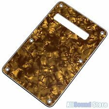 NEW - GOLD PEARLOID 3-Ply Back Plate Tremolo Cover for Fender Stratocaster Strat