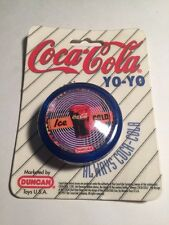 "Vintage Coca-Cola ""Ice Cold"" Yo Yo DUNCAN TOYS 1997 Brand New Retro Coke BLUE"