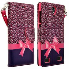 For ZTE Grand X 3 Z959 Cell Phone Case Hybrid PU Leather Wallet Pouch Flip Cover