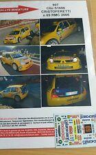 Decals 1/424 réf 907 Renault Clio s1600 Cristoferetti Monte Carlo 2005 N 69